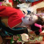 ハロウィンパーティーで新日本髪